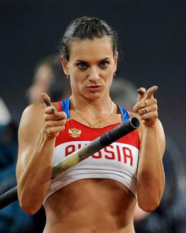 A atleta russa Elena Isinbayeva, que conquistou o ouro no salto em altura. 18/08/08