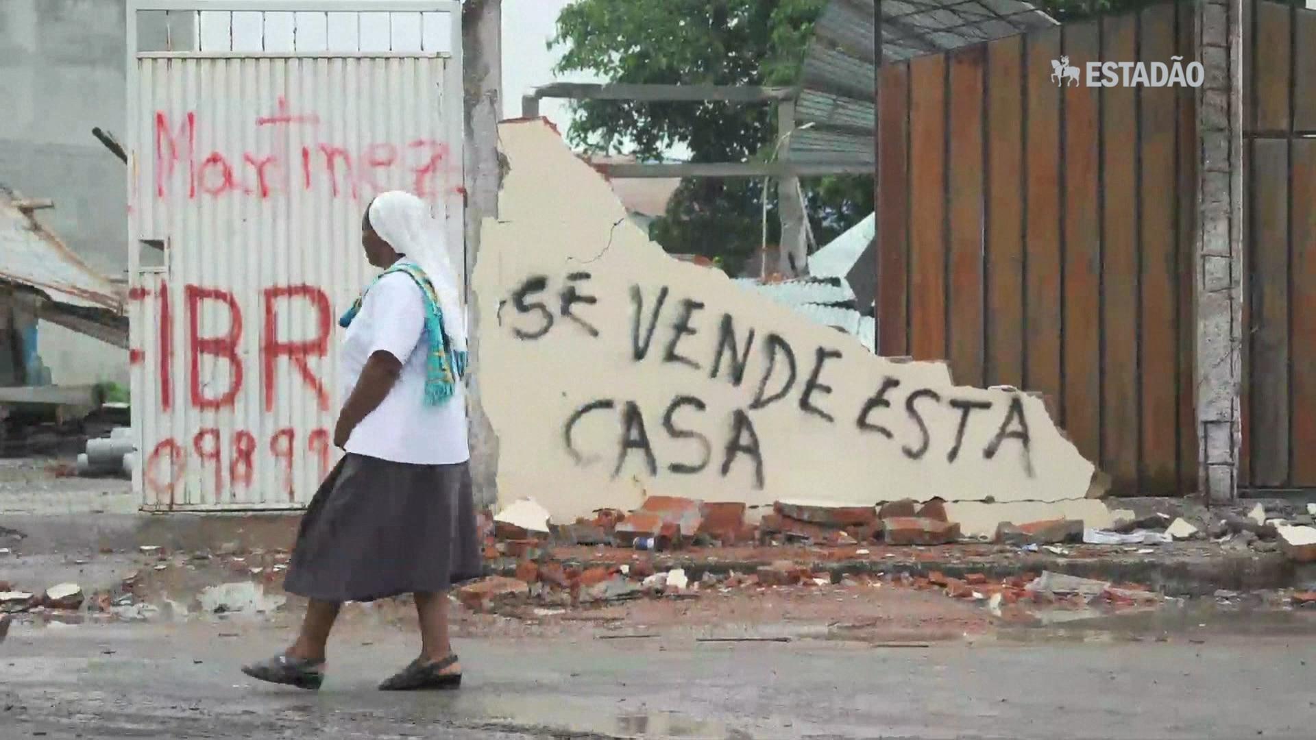 A vida após o terremoto no Equador