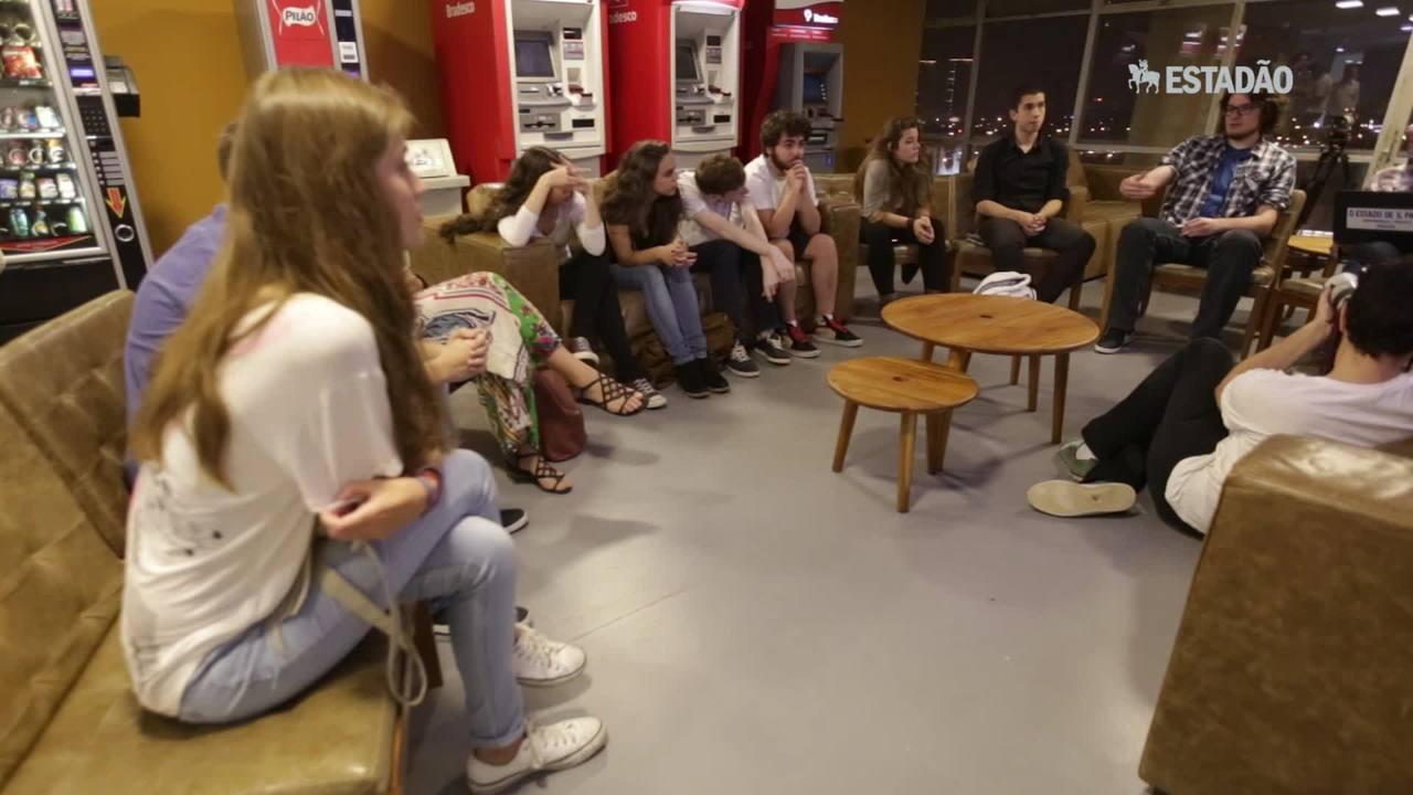 Estudantes comentam desempenho de candidatos à prefeitura de SP