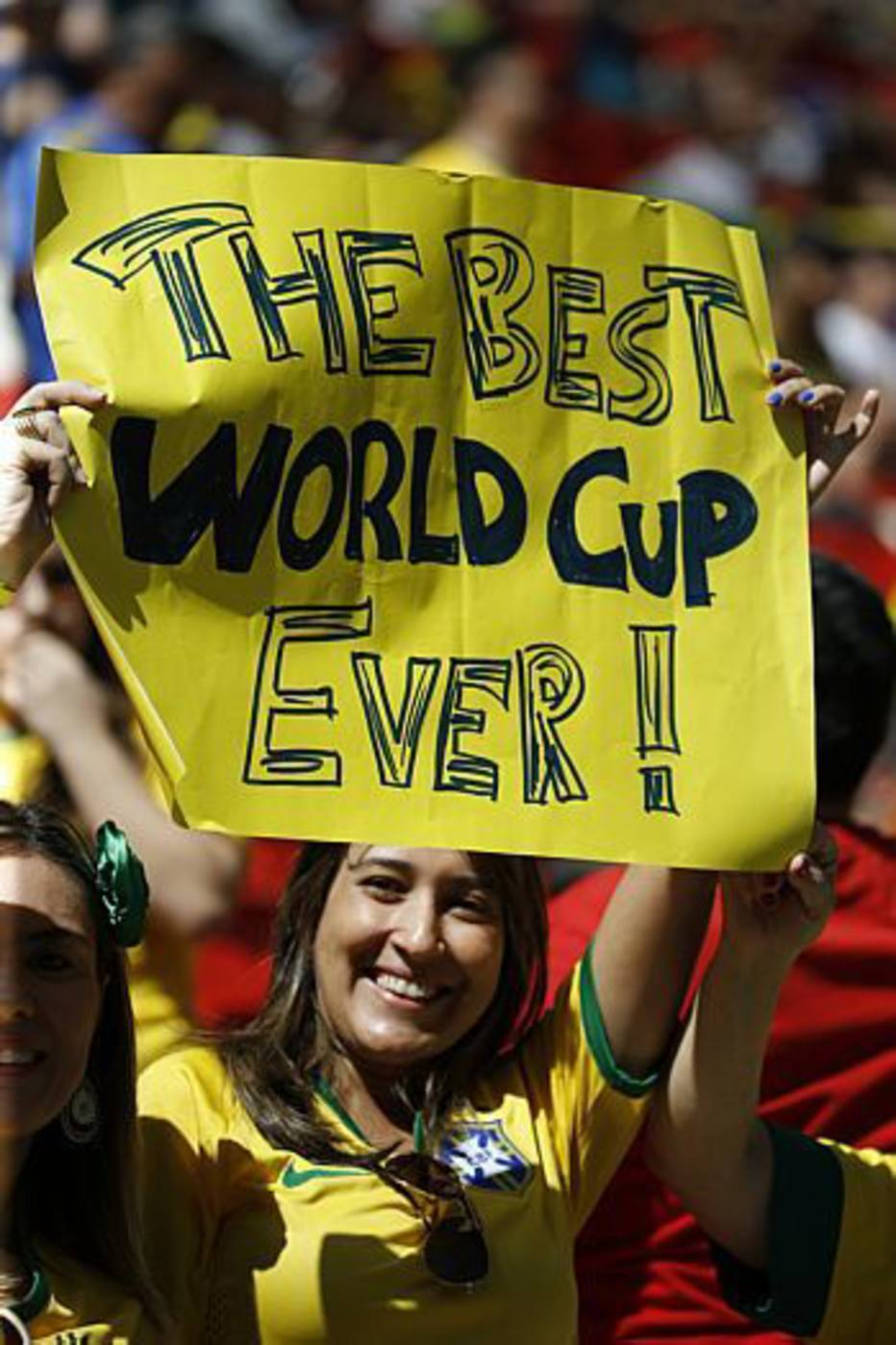 Os brasileiros marcam presença no Estádio Nacional Mané Garrincha