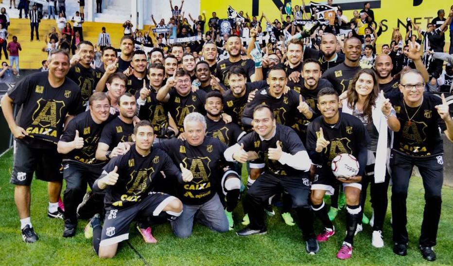 Em meio à festa pelo acesso, Ceará empata com o Criciúma em SC