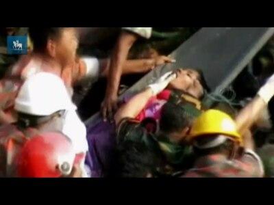 Mulher é resgatada 17 dias depois de desabamento em Bangladesh