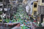 Manifestantes exigem fim imediato das operações da construtora brasileira no país