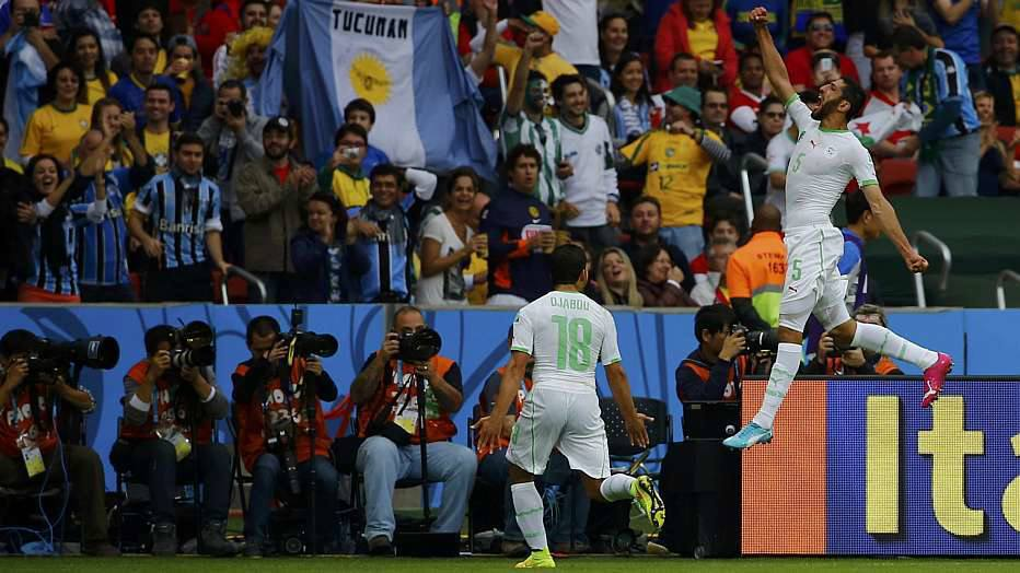 Apenas um minutos depois, Halliche cabeceou a bola após cobrança de escanteio de Djabou e aumentou para a Argélia.