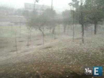 Chove granizo na zona norte de SP