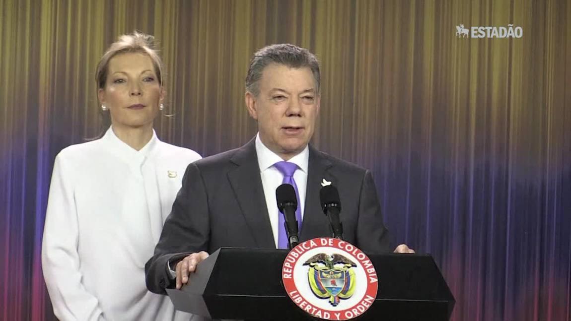 Presidente colombiano pede união para construir 'paz duradoura'