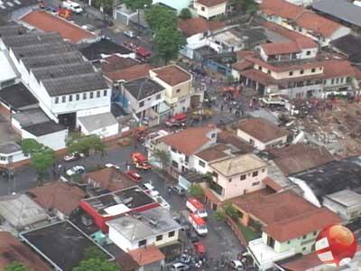 Veja vídeo do local da explosão em Santo André