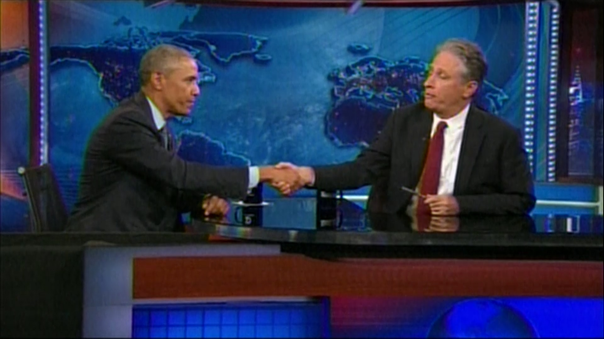 Obama participa do programa americano The Daily Show