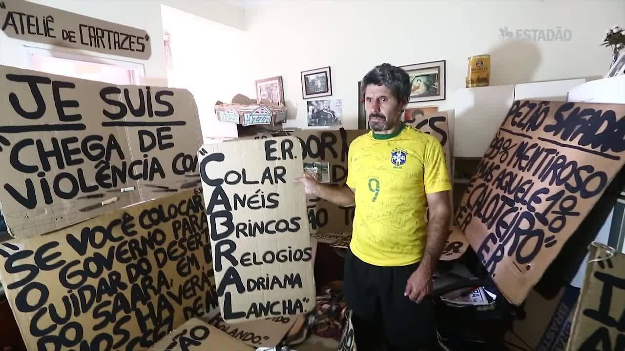Militante da revolta carioca, 'Je Suis' não perde passeata nem operação da PF