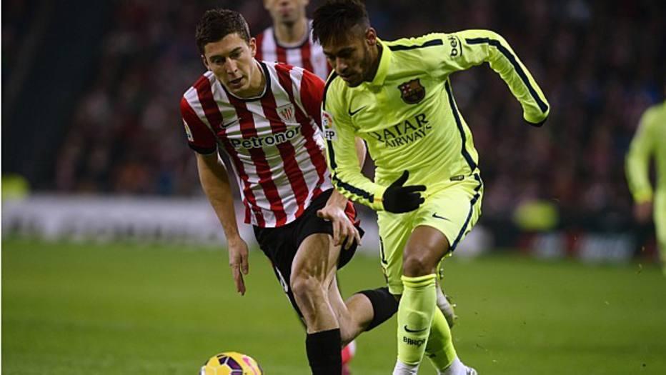 O camisa 11 barcelonista fez um dos sete gols do grande jogo contra o Athletic Bilbao, dia 8 de fevereiro, pelo Campeonato Espanhol.