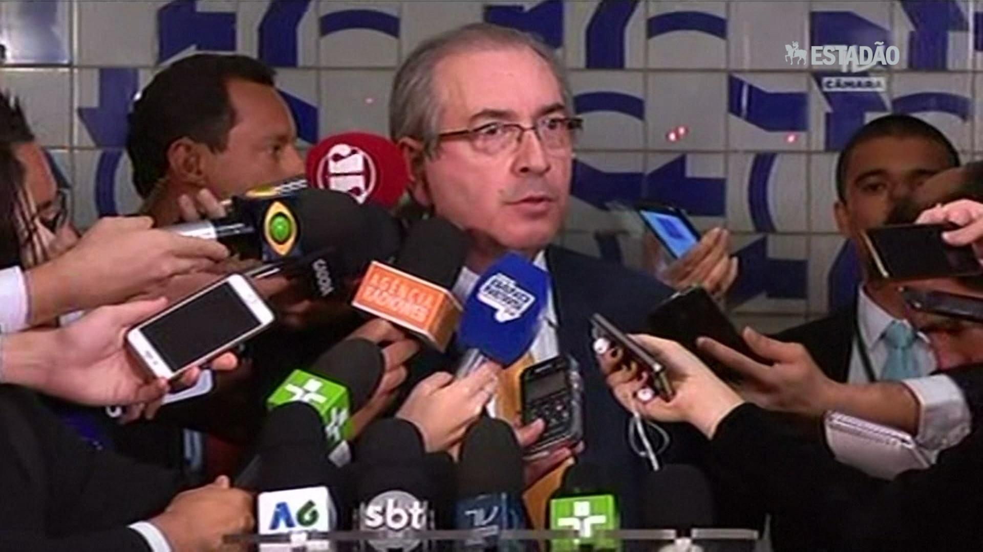 Cassado, Cunha se diz vítima de complô