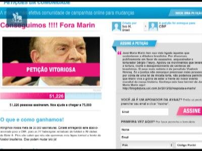 Petição por saída de Marin da CBF chega a 50 mil assinaturas