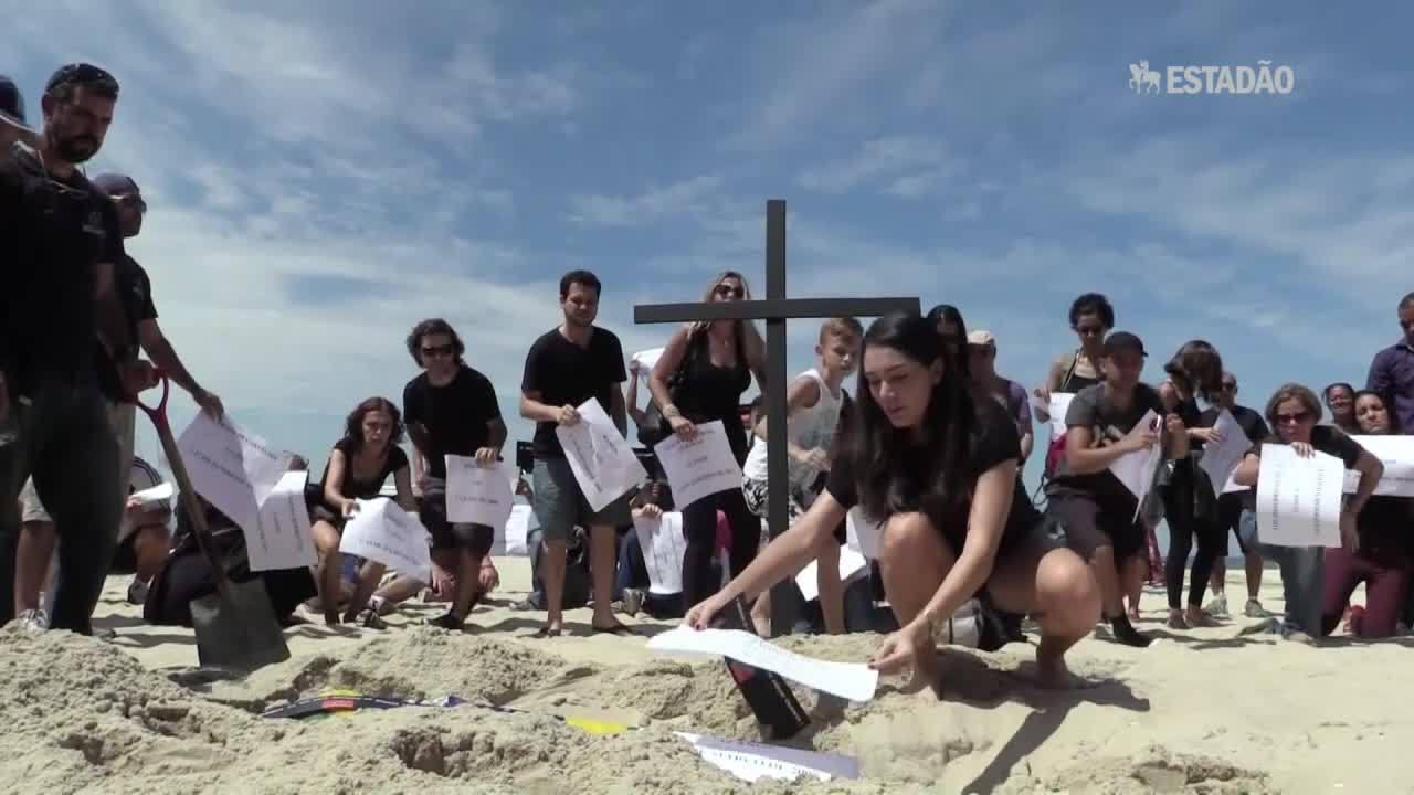 Protesto e revolta por morte de menino no Rio