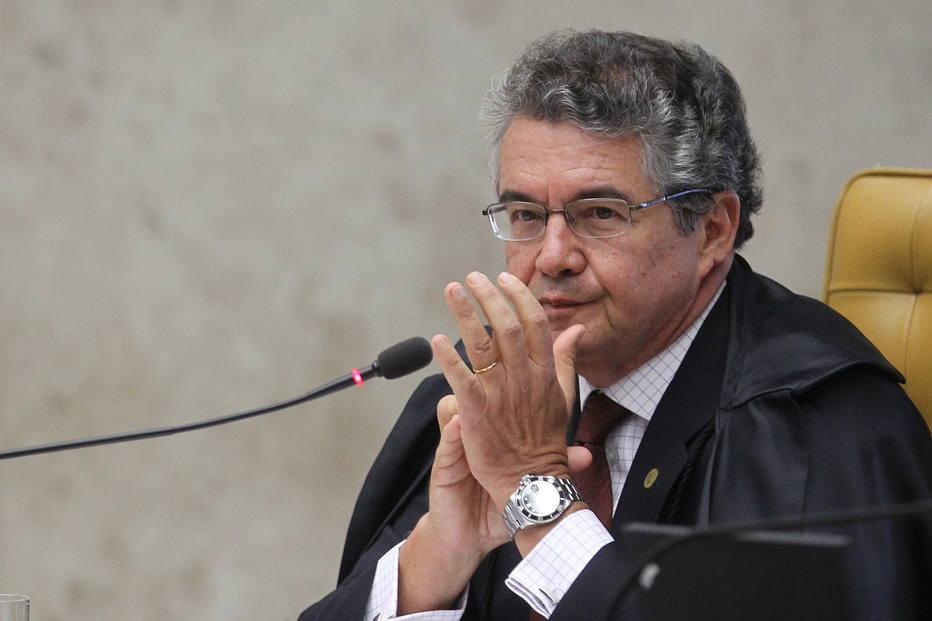 Marco aurélio Mello, em sessão do Supremo Tribunal