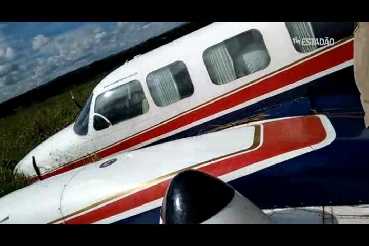 Veja como ficou o avião que transportava Angélica e Luciano Huck
