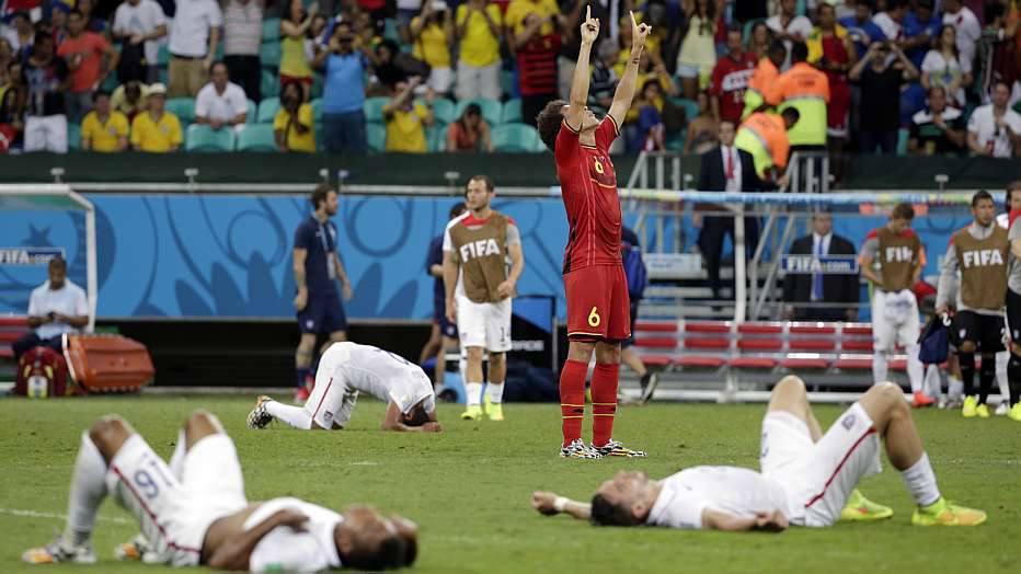 Nas quartas de final, a Bélgica enfrentará a Argentina, que bateu a Suíça, por 1 a 0, também na prorrogação.