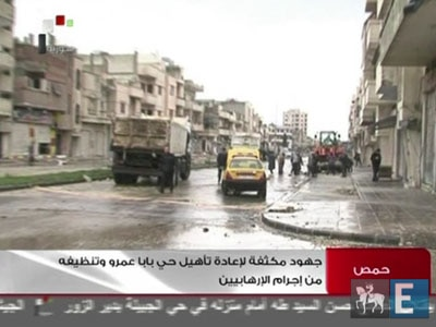 Ajuda humanitária é barrada em Homs