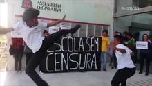 Estudantes protestam contra o projeto 'Escola sem Partido'