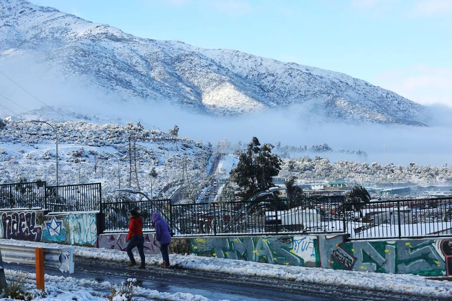 Neve em Santiago