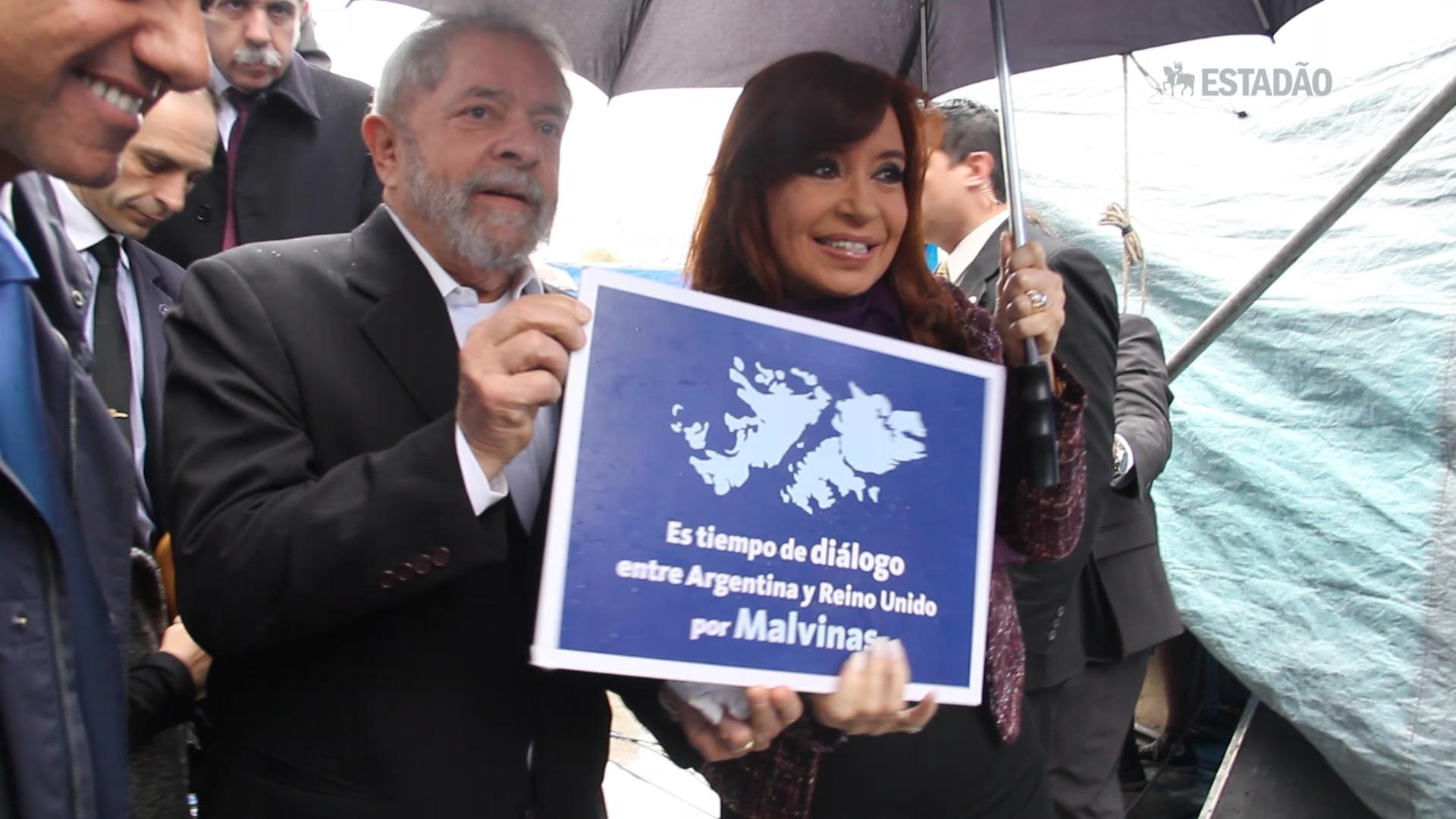Kirchner leva Lula a evento ao lado de candidato