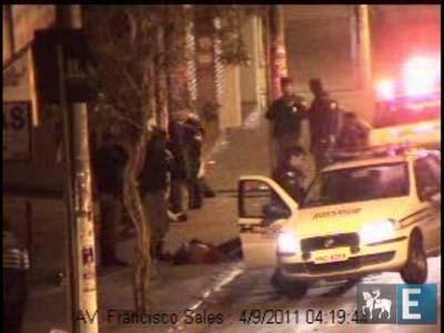 Câmeras da PM flagram espancamento de jovem em MG