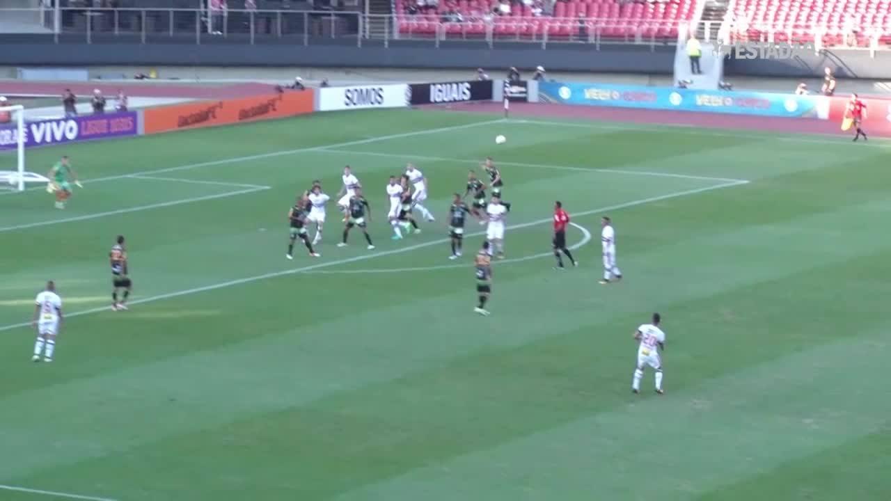 São Paulo vence o América-MG por 3 a 0 no Morumbi