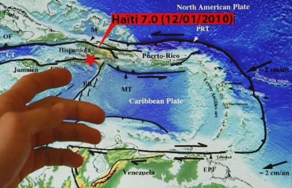 Técnico de instituto francês que estuda abalos sísmicos, aponta o epicentro do terremoto no Haiti