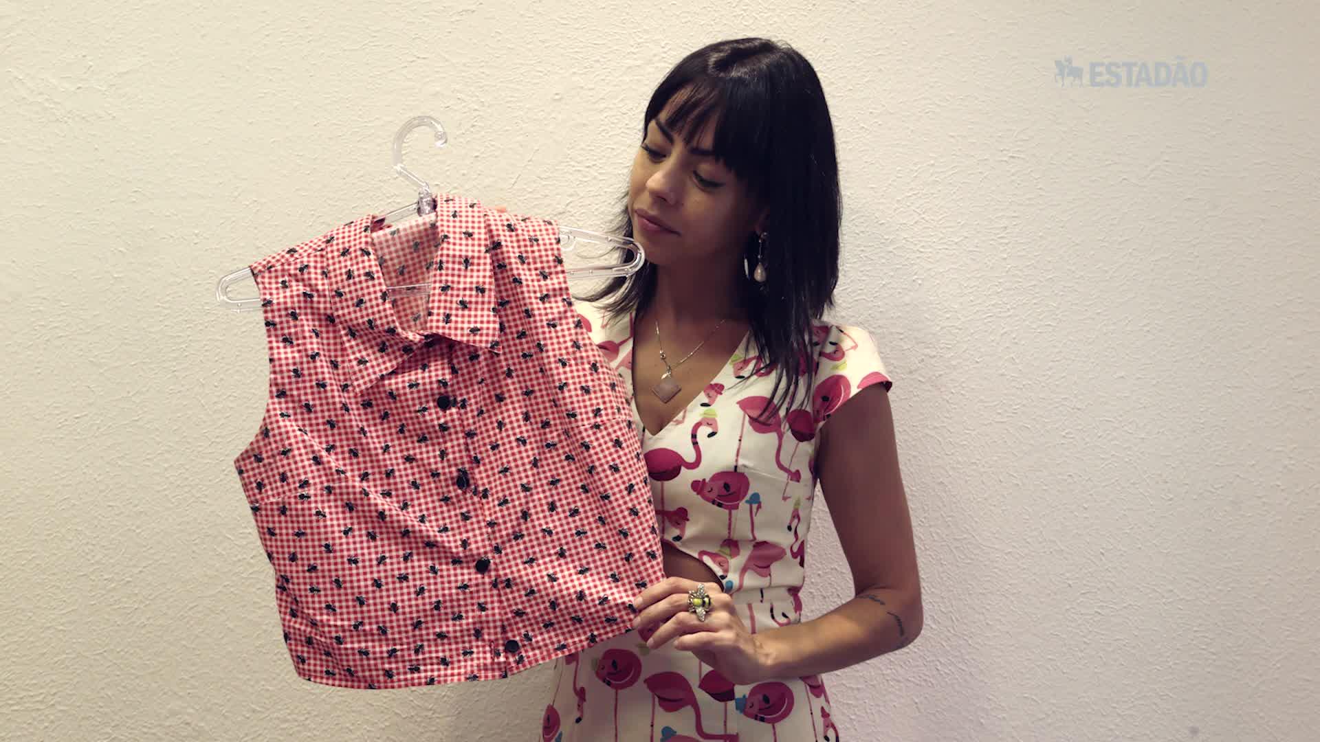 Marca faz camisas com tecidos de toalha de mesa