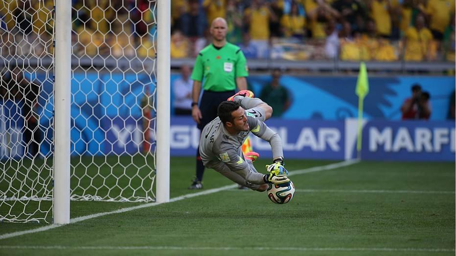 Julio Cesar - 34 anos - clube: Toronto - 84 jogos pela seleção brasileira - 3 gols sofridos na Copa do Mundo 2014