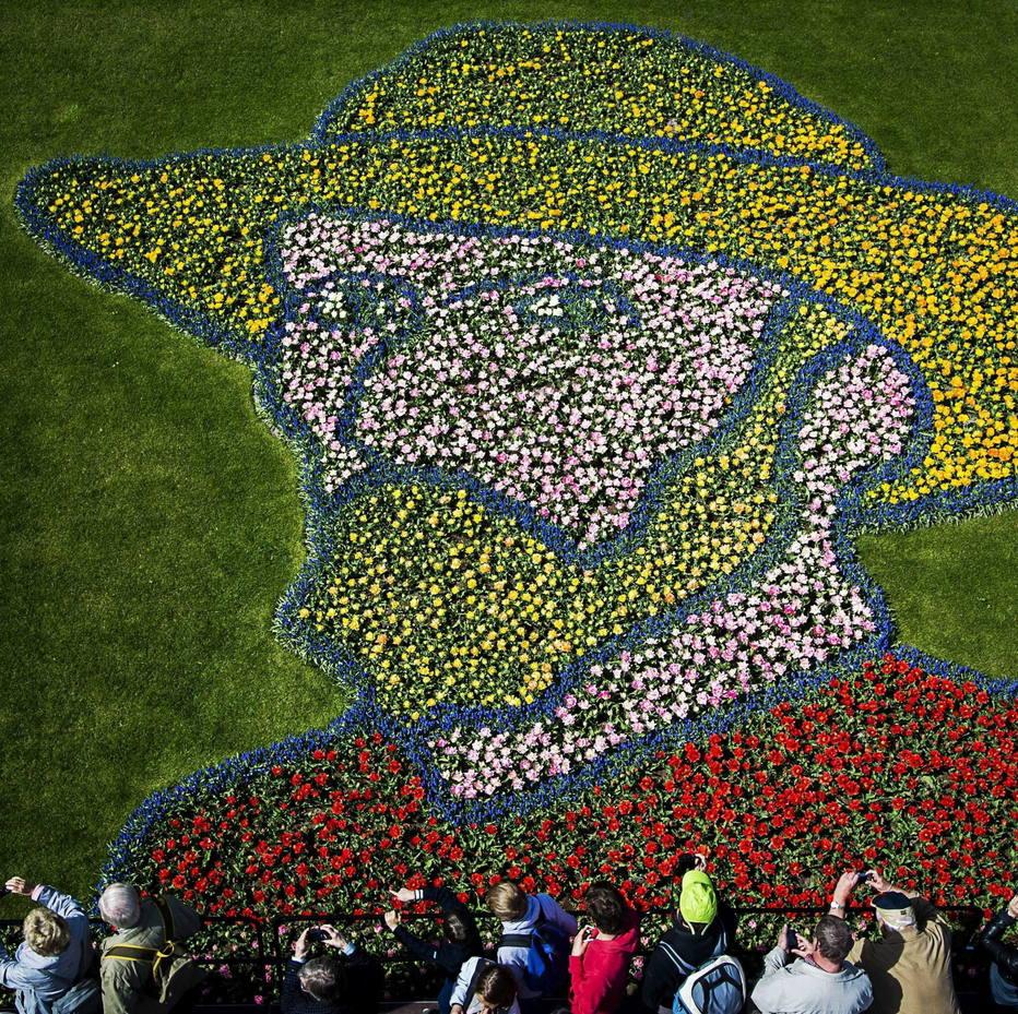EFERemko De Waal  Jardim de tulipas formam o rosto do pintor