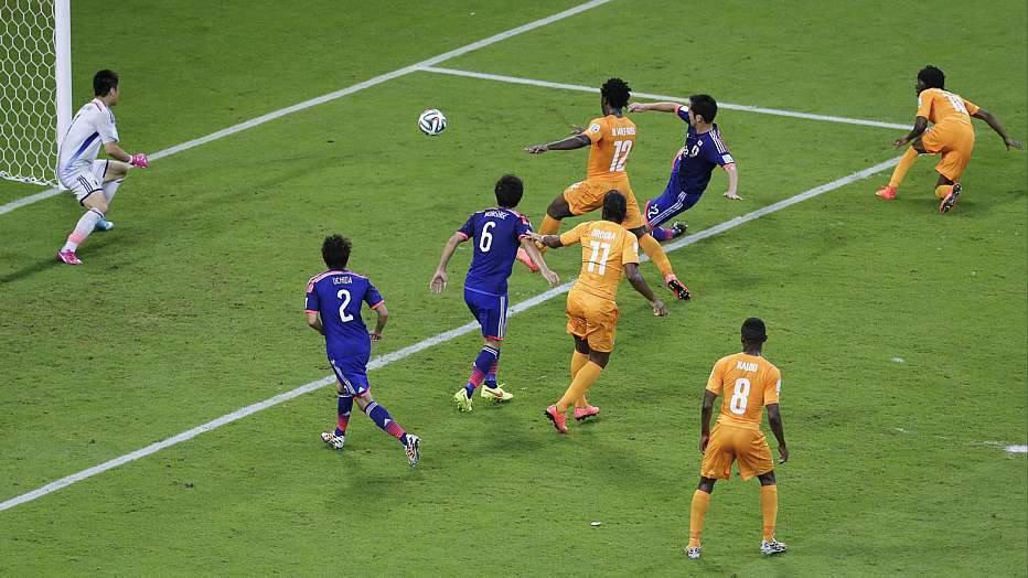 No minuto seguinte, Gervinho conseguiu a virada em cima do Japão.