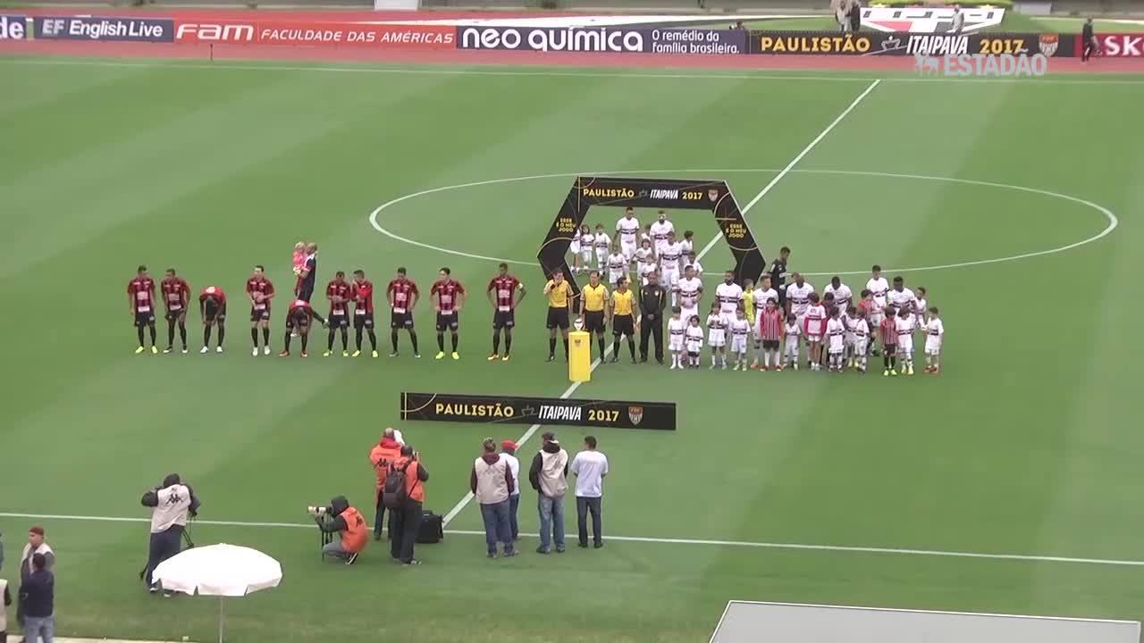 São Paulo e Ituano empatam por 1 a 1; veja os lances