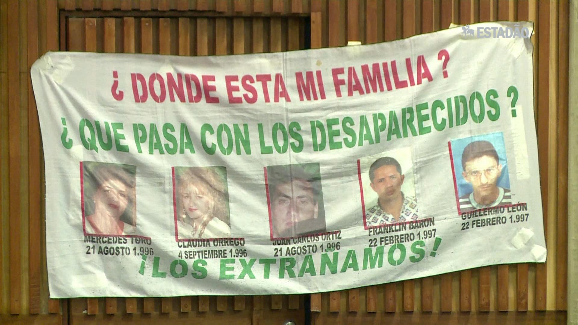 Colômbia teve mais de 60 mil desaparecidos em 45 anos
