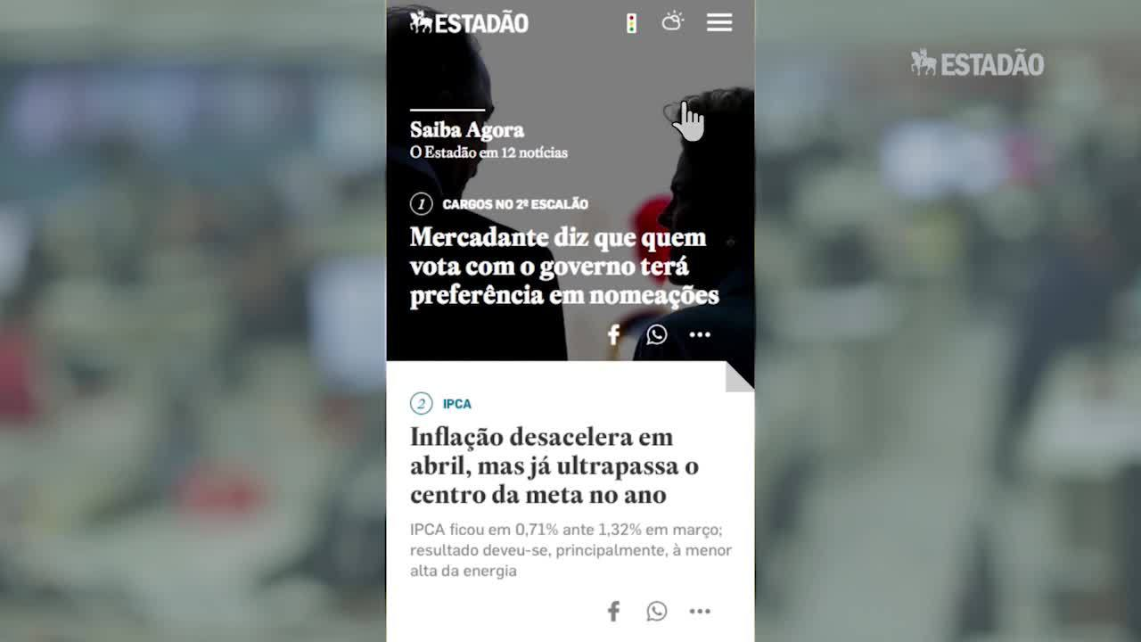 Aprenda a navegar no novo site mobile do Estadão
