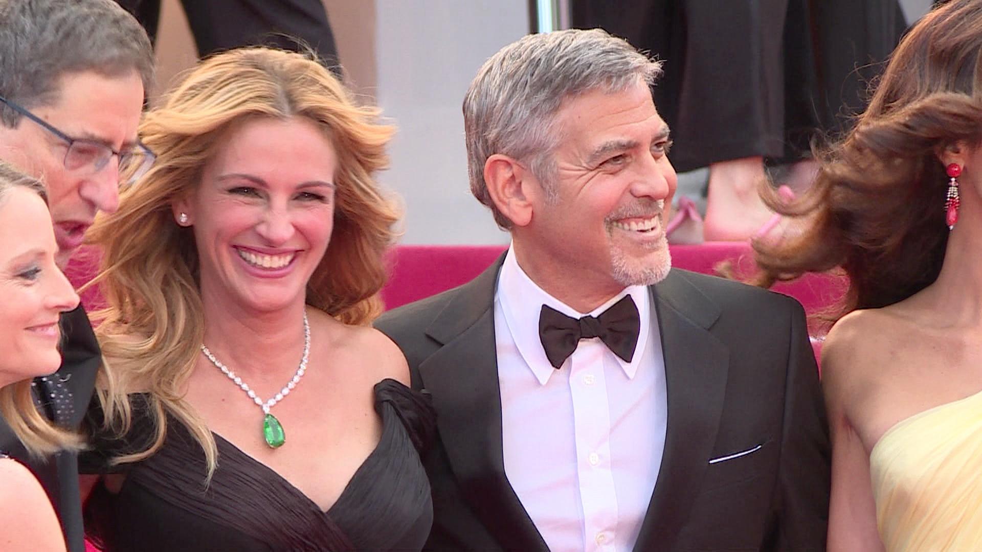 Julia Roberts e Clooney roubaram os flashes em Cannes