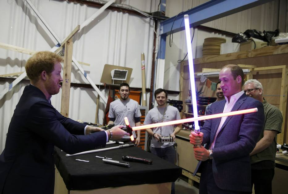 Príncipes William e Harry estarão em 'Star Wars: Os Últimos Jedi'