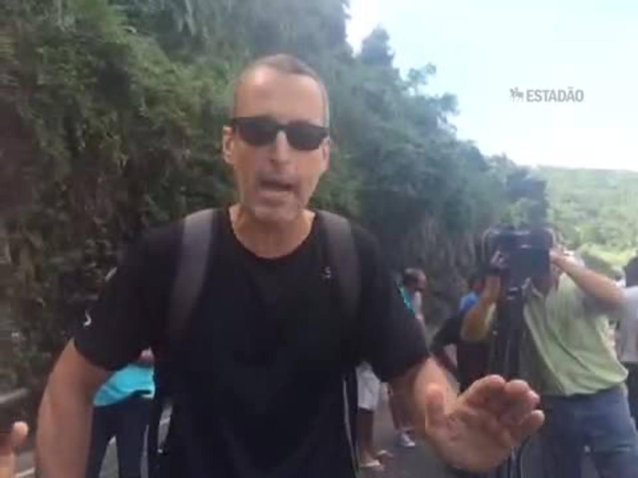 Testemunhas descrevem momento do desabamento da ciclovia no Rio