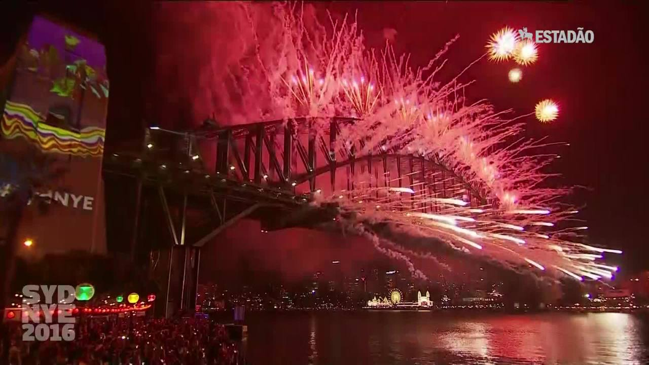 A virada de ano na Austrália