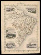 Mapa do cartógrafo inglês John Tallis, de 1851, com visões do Rio e Santa Catarina. Foto: Divulgação