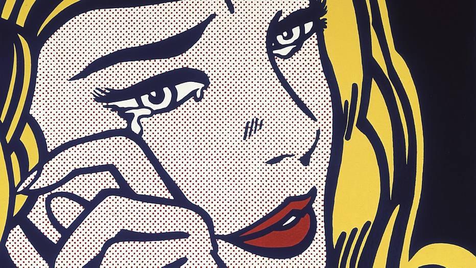 """""""Crying Girl"""", esmalte sobre metal do pintor norte-americano Roy Lichtenstein feito em 1964 no auge da cultura pop dos Estados Unidos. A exposição """"A Inusitada Coleção de Sylvio Perlstein"""" vai até o dia 10/8 no Masp (Av. Paulista, 1.578, 3251-5644). 3º a dom., 10h/18h (5ª, 10h/20h). R$15 (3ª grátis)."""