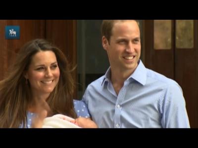 Príncipe William e Kate deixam hospital com filho recém-nascido