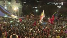 Manifestantes protestam contra governo Temer no Rio
