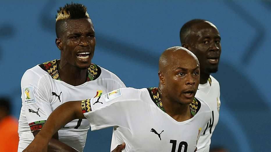 A entrada de Kevin-Prince Boateng organizou o meio de campo e Gana passou a atacar mais, porém, sem pontaria. No fim do segundo tempo, Ayew empatou.