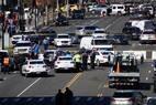 Tráfego de veículos foi interrompido em avenida da capital americana após prisão de motorista que tentou atropelar policiais