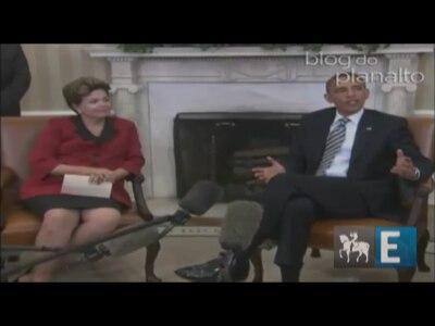 Presidente Dilma é recebida por Barack Obama na Casa Branca