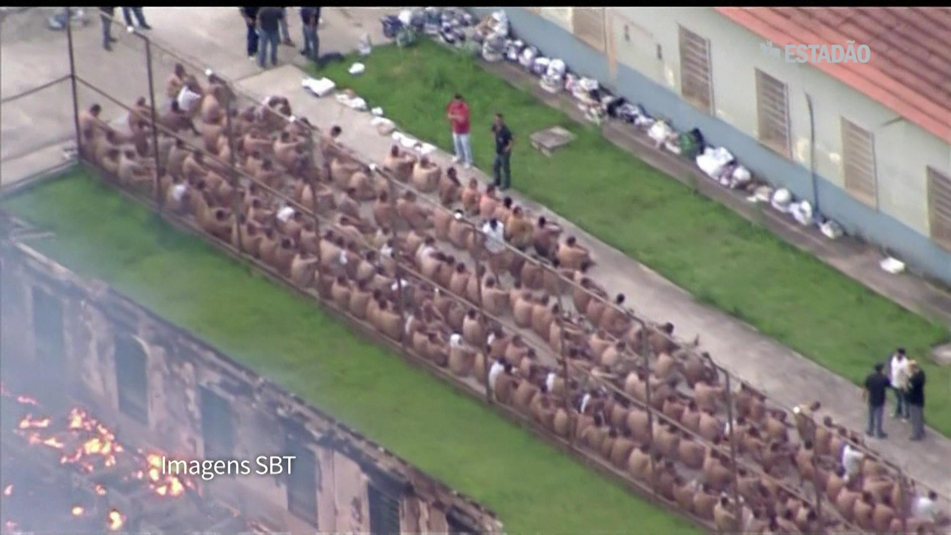 Fuga e incêndio em motim em Franco da Rocha
