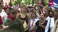 """Os """"cinco heróis"""" cubanos ganham chaves de Caracas"""