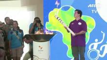 Tocha paralímpica chega ao Rio de Janeiro