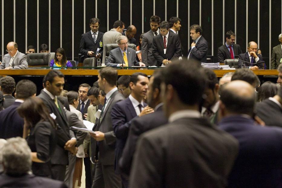 Plenário da Câmara, durante sessão