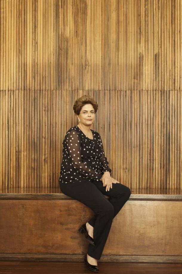 A presidente afastada Dilma Rousseff para a revista Time